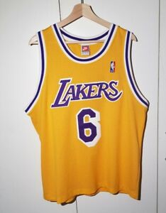 Details about Vintage Eddie Jones Nike Los Angeles Lakers Jersey 90s Size XL RARE Kobe Shaq