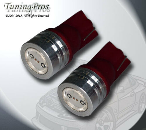 2pcs of T10 Wedge LED Backup Reverse High Power Red Light Bulbs One Pair 921