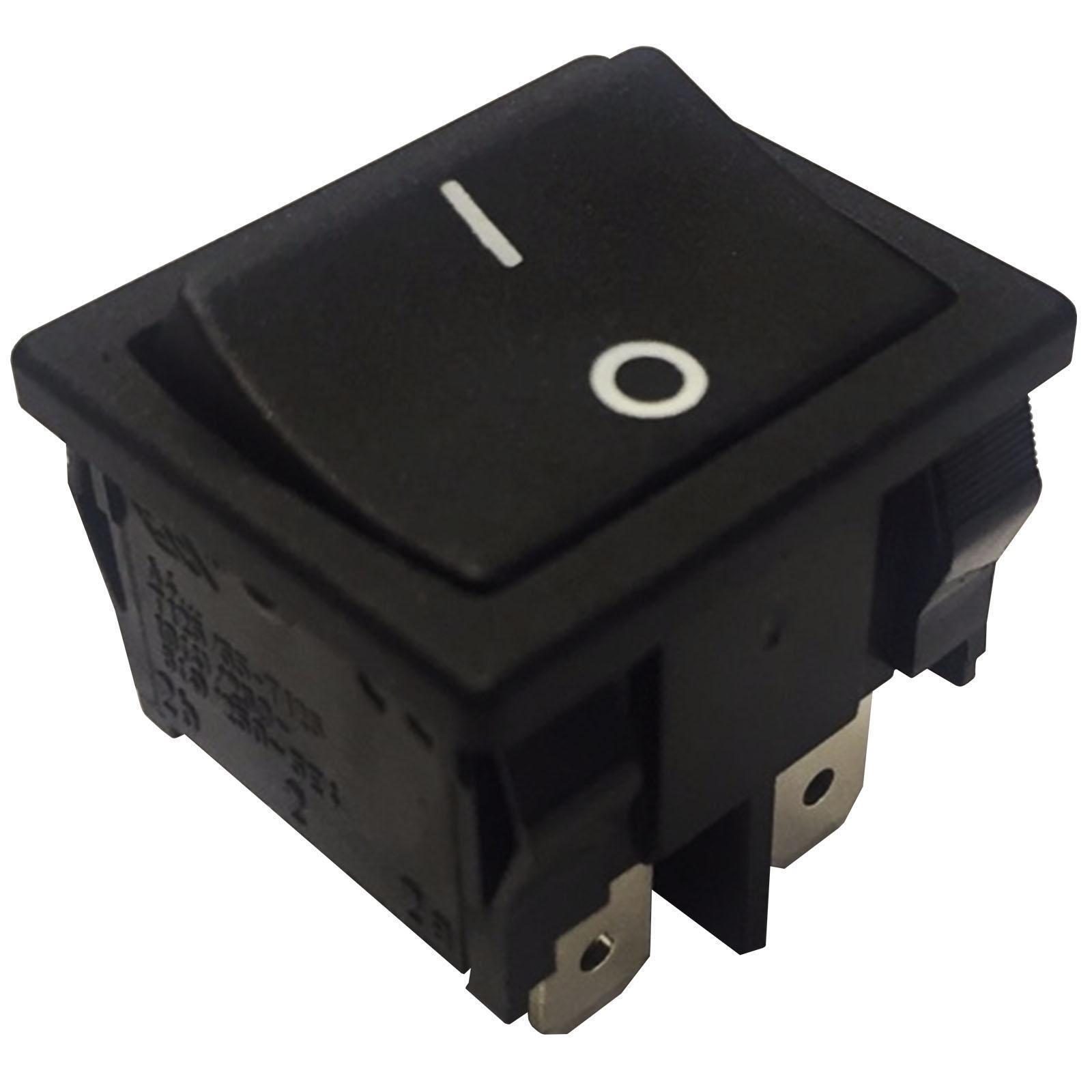 Small Latching Rocker Switch 22x19mm DPST 10A 250VAC