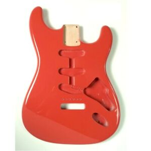 Corps-Stratocaster-Aulne-Fiesta-Red-Alder-Strat-Body-SBF-FR-Close-out