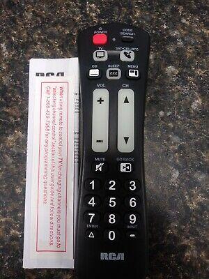 RCA 2 Device Large Button Remote Control Black RCRH02BR