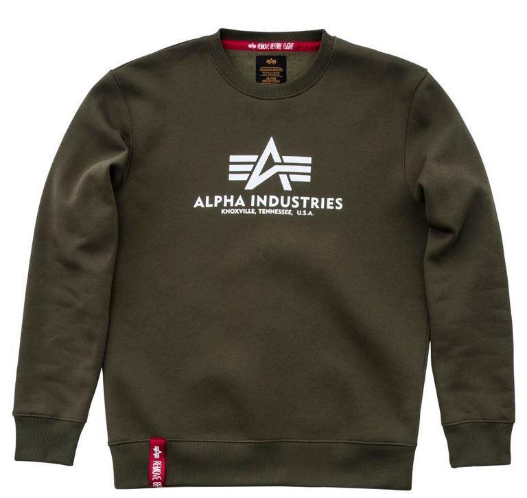 Alpha Industries Basic SWEATER 178302 NUOVO    Felpa