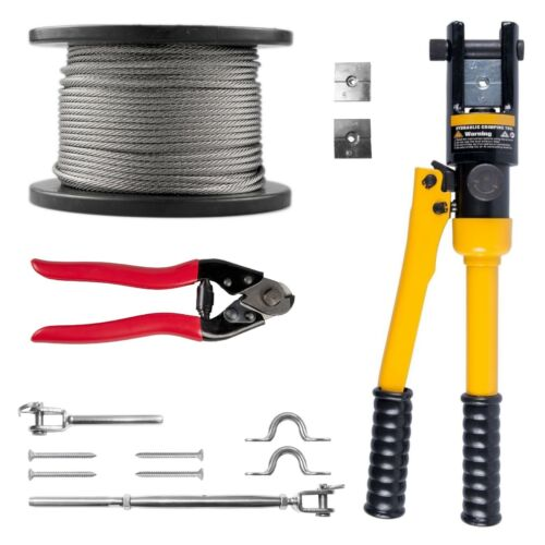 choose your qty Stainless Steel Balustrade Kit 3.2mm Wire  Hyd Swager Cutter