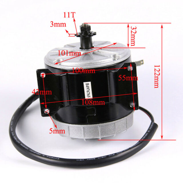 24V 350W Brushed Motor for Electric Bicycle Drift Cart Tricycle Rocket Bike ATV