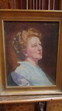 Tableau Huile / Toile Portrait de femme signé Helier Cosson vers 1940