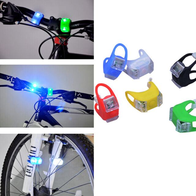 Premium Frog Safety Wheel Light Bike Bicycle Silicone 2X LED Superbright 1pc New