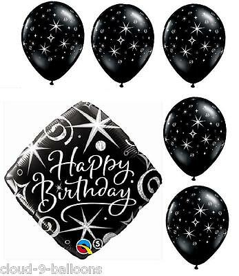 "Elegant Sparkles Helium Balloon Birthday Party Pack 1 x 18"" Foil + 5 x 11"" Latex"