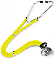NEW IN BOX NEON YELLOW  SPRAGUE RAPPAPORT STETHOSCOPE ADC