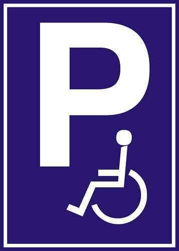 Parkplatzschild Rollstuhl 200x300x5 mm witterungsbe.