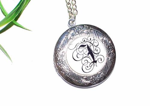 AUSWAHL INITIALEN Medaillon Halskette Buchstaben Foto Anhänger zum öffnen +