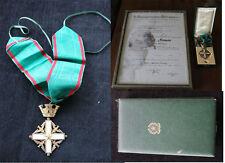 Original Komturkreuz Italien + Urkunde an den Oberbürgermeister WOLFSBURG 1986