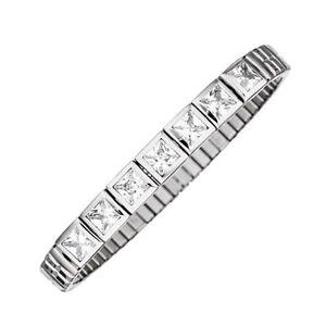 MAGNETIX Armband Flexi 2678  Square Stone Zirkonia  (Gr.M,L,XL)  Magnetschmuck