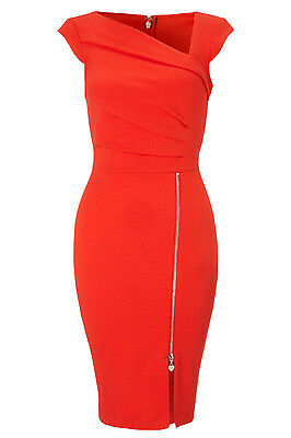 Red Pleated Shift Bodycon Dresses LC21667 party wear casual Women