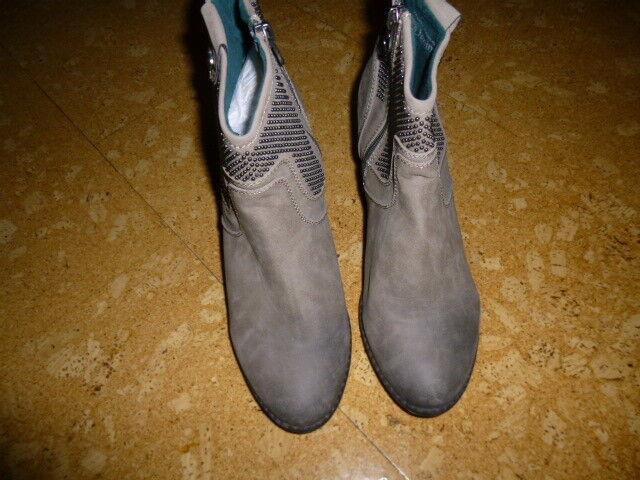 TOM TBILOR Da. Stiefelletten Bnkle Boots Gr. 40  m. Nieten Stern, Neu, reinschau