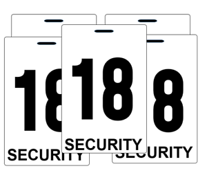 Security-guard-crowd-controller-number-tag-ID-plastic-PVC-card-bulk-high-quality