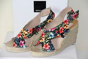 e00270d13fc5 New Dolce Vita Sovay Wedges Women s Platform Heels Floral Wedge ...