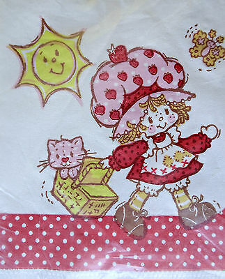 Vintage 80's Strawberry Shortcake Doll Cat Paper Napkins Decoupage Party Crafts