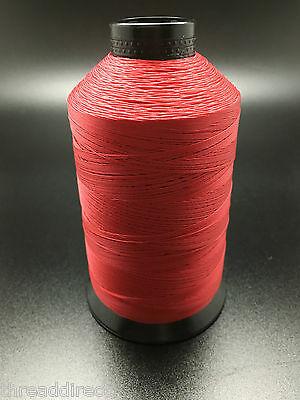 8oz Spool Classic Red T90 2250 Yards Bonded Polyester Sewing Thread Fabric P25