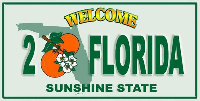 New Welcome to Florida License Plate Bath Beach Pool Cotton Towel Gift State NIP