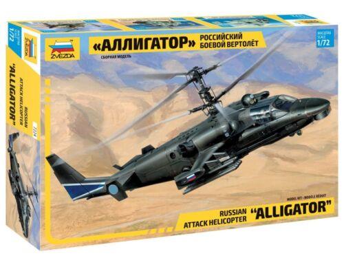 Zvezda 7224 Russian Attack Helicopter Alligator KA-52 1//72