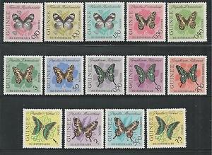 GUINEA # 291//304, C47-49 MNH BUTTERFLIES