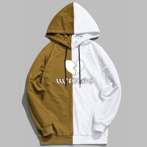 Xxxtentacion Hoodies Fashion Patchwork Sweatshirt Streetwear Long Sleeve