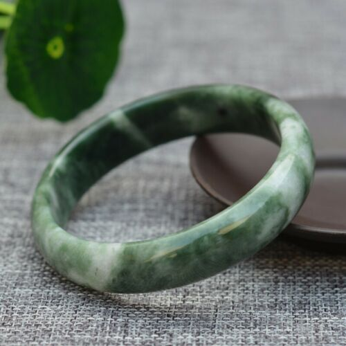 Handmade 100/% Natural Midnight Green HQ AAA Jade Stone Bracelet Bangle Woman
