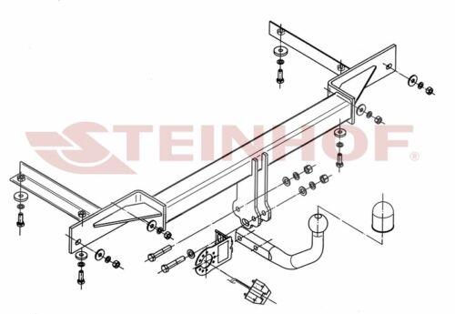 E-Satz 13p Anhängerkupplung AHK starr für Chevrolet Cruze Limousine 4-tür 09-14