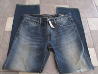 American Eagle Original Boot Jeans Mens 31x32 Destroyed Medium Free Ship