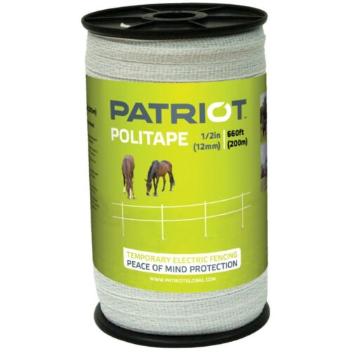 "PATRIOT 821451 POLITAPE 660 FT ROLL1//2/"" ELECTRIC FENCE WIREHORSE POLY TAPE"