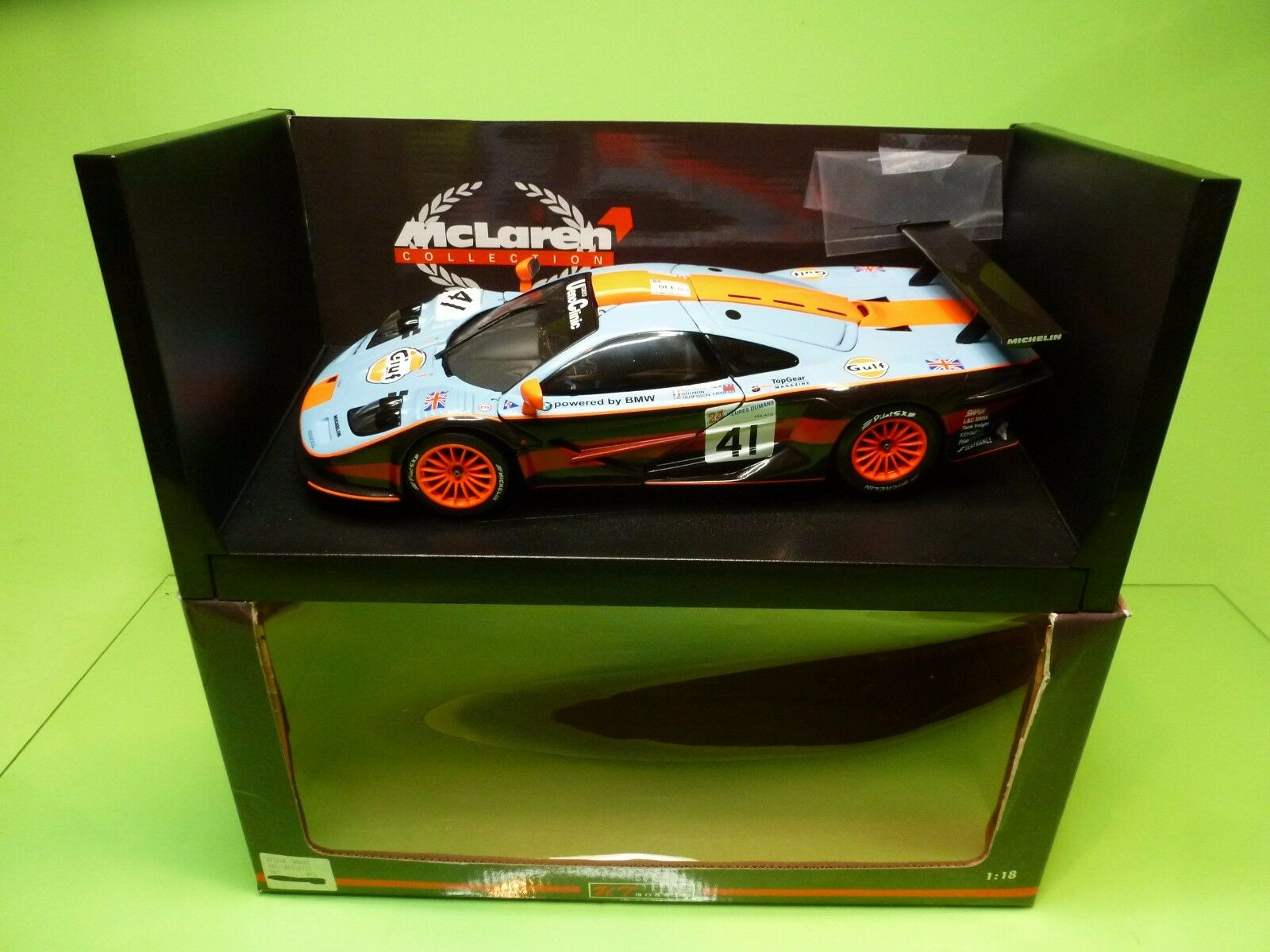 UT MODELS 39727 McLAREN F1 GTR LE  MANS 1997 - GULF BLUE 1:18 - EXCELLENT IN BOX