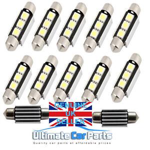 Interior-Numero-De-Matricula-LED-Bombilla-CANBUS-FESTOON-239-38MM-39MM-en-blanco-puro
