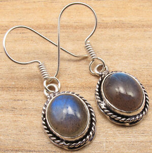 925-Silver-Plated-LABRADORITE-Earrings-Jewelry-Store-Price-Start-From-0-99