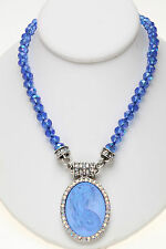 KIRKS FOLLY LORELEI DIVA MERMAID DREAMSTONE MAGNETIC BEADED NECKLACE silvertone