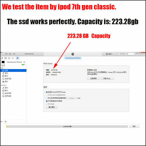 "256gb SSD Upgrade 160GB Hard Drive 1.8/"" MK1634GAL ZIF for iPod Classic 7th Gen"