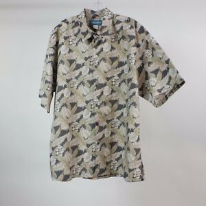 Cooke-Street-Honolulu-XL-Floral-Hawaiian-Button-Front-Aloha-Lounge-Shirt