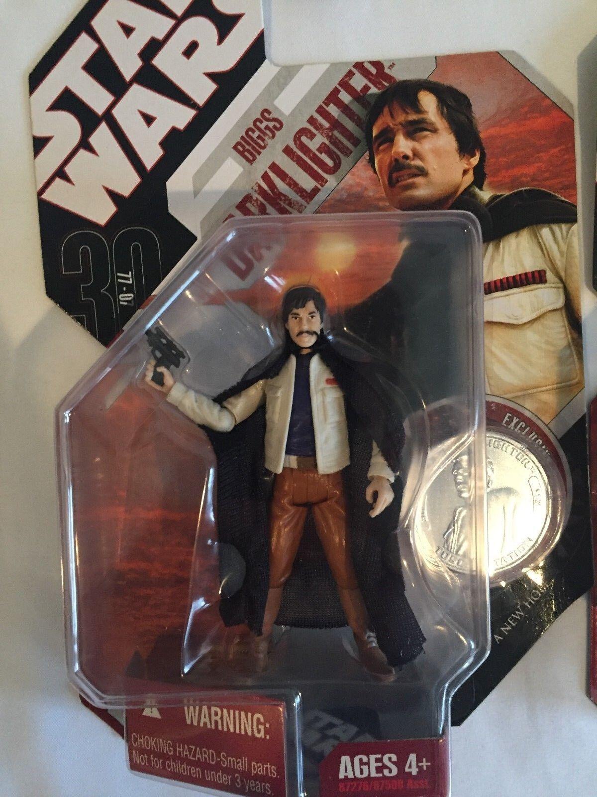 Star Wars 30th Anniv Biggs Darklighter & & & Jawa with Lin Droid Figures 52ff66