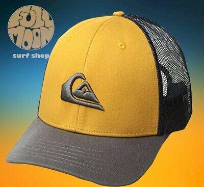 New Quiksilver Stripe Downer Mens Snapback Trucker Cap Hat