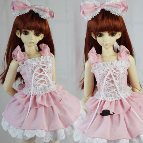 NEW 1//3 1//4 BJD SD MSD DOLLFIE Clothing Pink Butterfly Cute Dress//Outfit//Suit