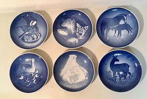 1970-75 Bing & Grondahl Mother's Day MORS DAG Plates Denmark Porcelain Set of 6