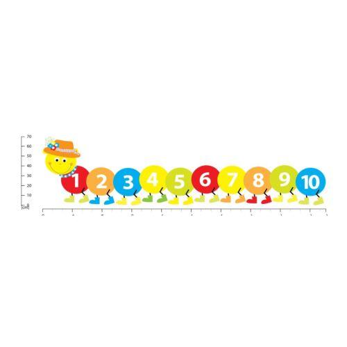 Zählen Caterpillar Kindergarten Wandtattoo WS-41267
