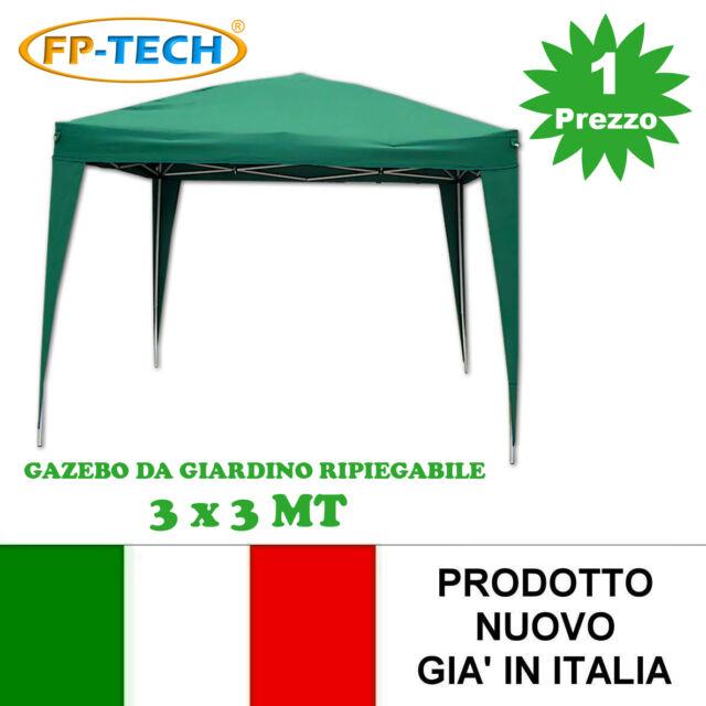 FP-TECH 4 Teli Laterali Chiusura di Ricambio per Gazebo Pieghevole da Giardino 3X3 Fiera MERCATINI Verde