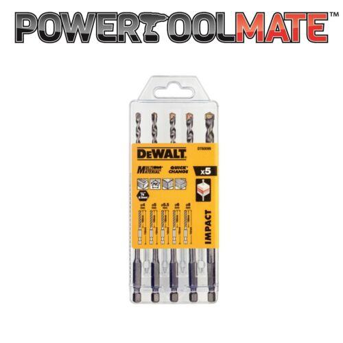 DeWalt DT60099 Extreme Impact Masonry Drill Bit Set 5pc