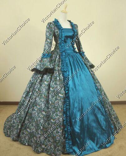 Renaissance Faire Gothic Fantasy Masquerade Gown Prom Dress Theater Costume 119