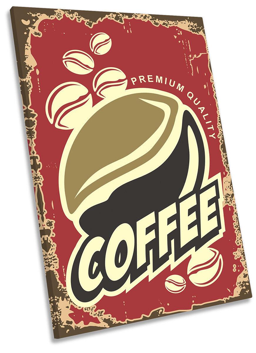 Caffè cucina Rosso incorniciato tela Stampa Ritratto Wall Art