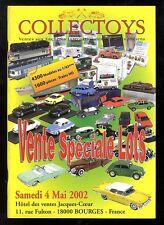 COLLECTOYS  32 eme  vente de jouets anciens    4 mai 2002
