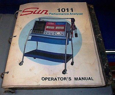 Sun Electric 1011 Engine Performance Analyzer Instruction Manual Pdf Book Cd Ebay