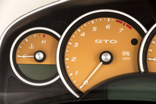 04-06 Pontiac GTO Holden Monaro 200mph Instrument Gauge Cluster Fusion Orange