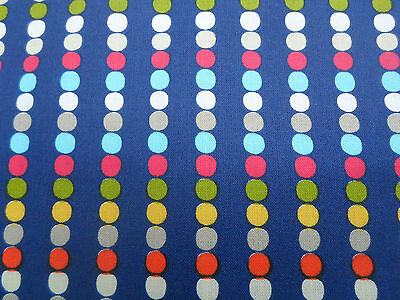 Harlequin Abacus Navy//Multi Cotton Fabric By The Metre