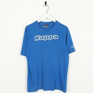 Vintage-KAPPA-Big-Spell-Out-Logo-T-Shirt-Tee-Blue-Small-S